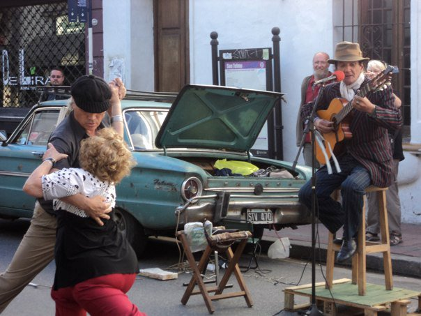 A lovely tango couple in San Telmo Griet and I stumbled upon that first month in Buenos Aires
