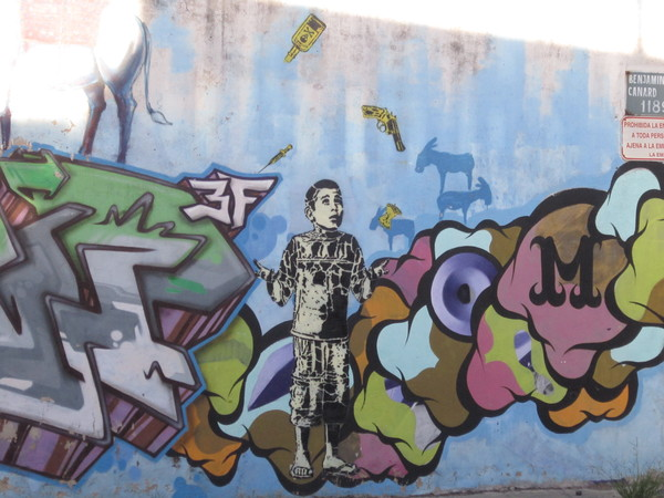 This one is a collaborative piece by street artists from around the world who kept adding elements.