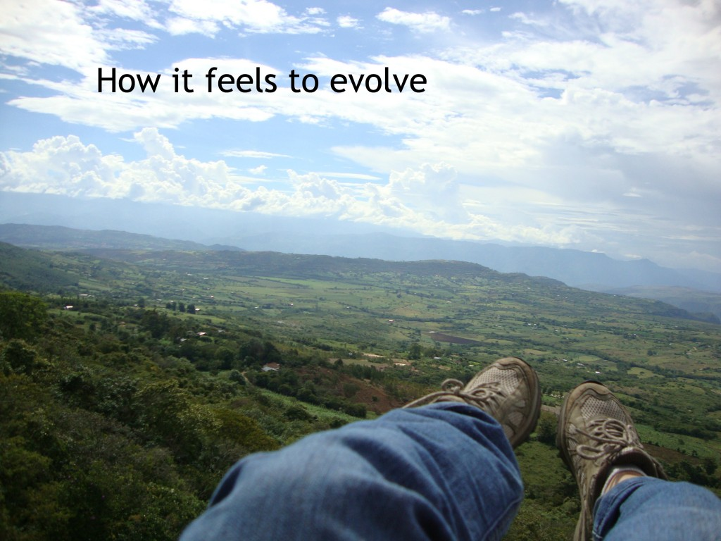 my feet in a parapente (paragliding) flight in Colombia