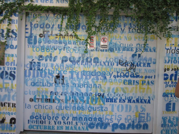 Most street art is not political but this wall was commissioned by homeowners to show their support for Cristina, Argentina's current president