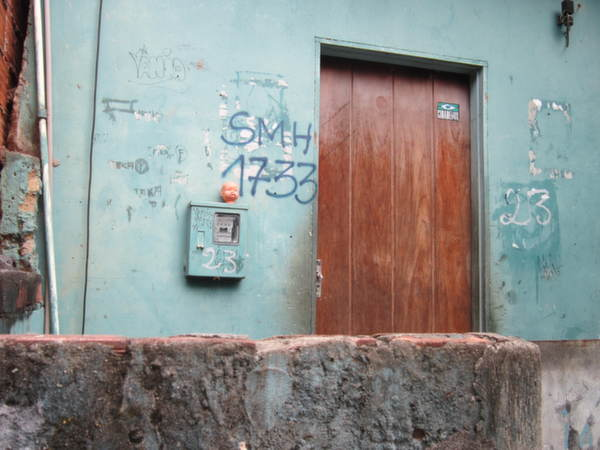 in the favela morro da providencia, the government has spray-painted numbers on homes to indicate they will be demolished, but had not told the residents when