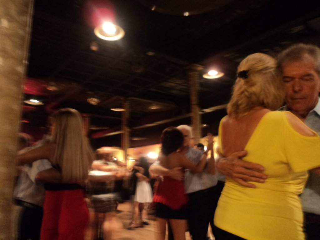 Couples of all ages in tango bliss at Gricel milonga