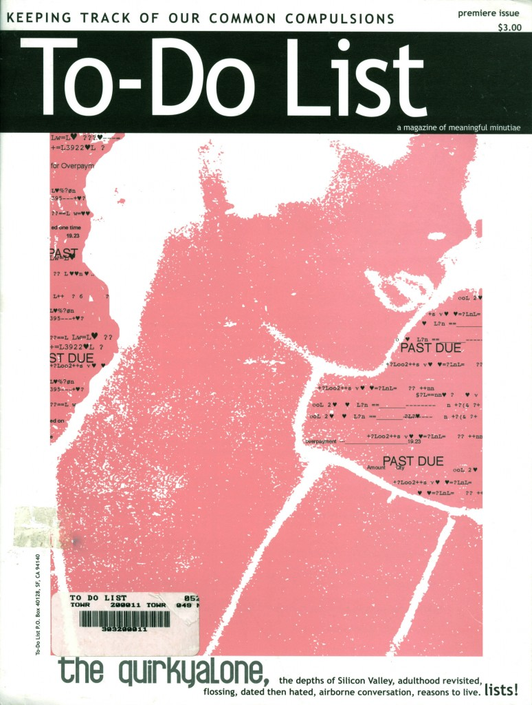 to do list magazine sasha cagen quirkyalone to do list author