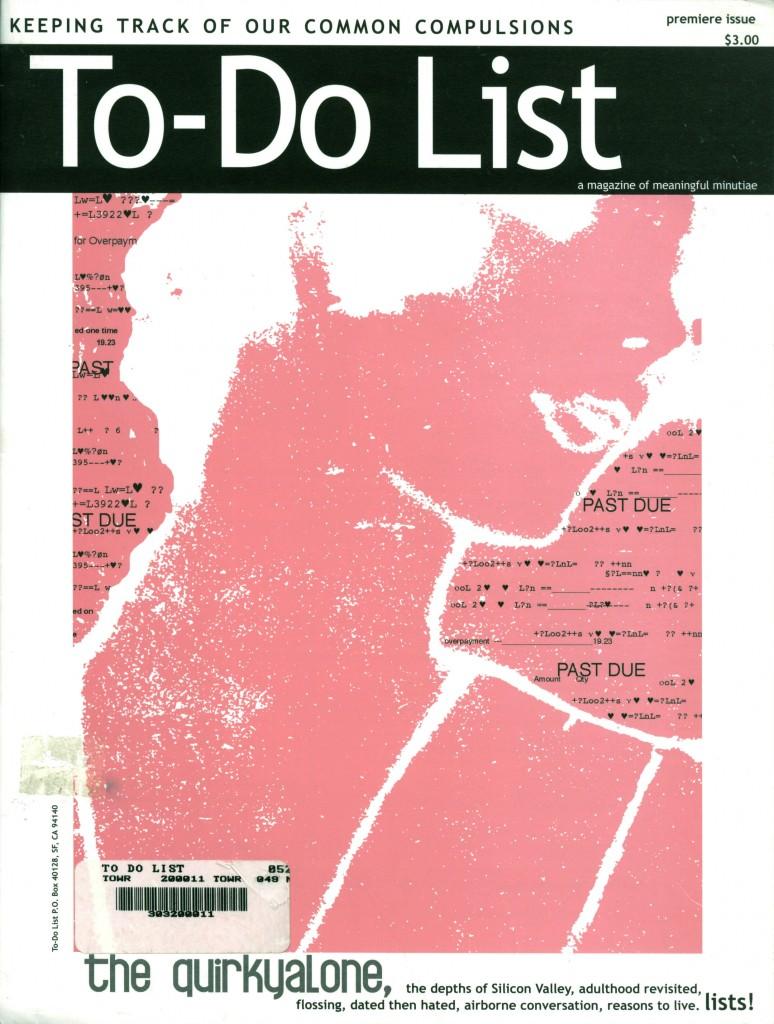 To-Do List magazine Premiere Issue