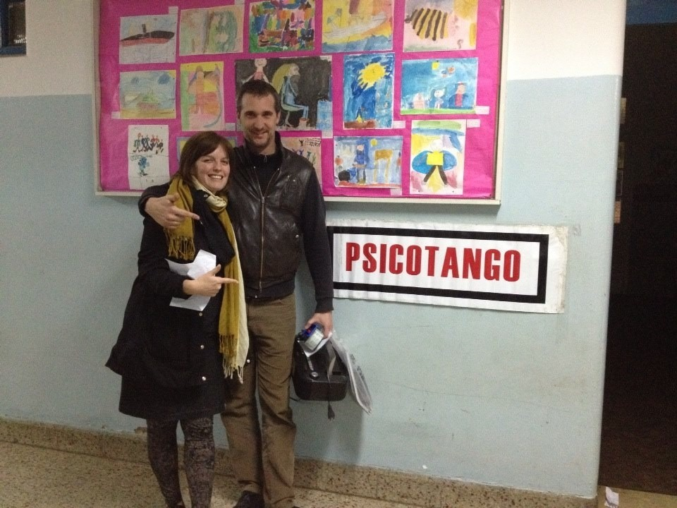 Sasha and Nacho, a trained psychoanalyst and co-founder of Psicotango