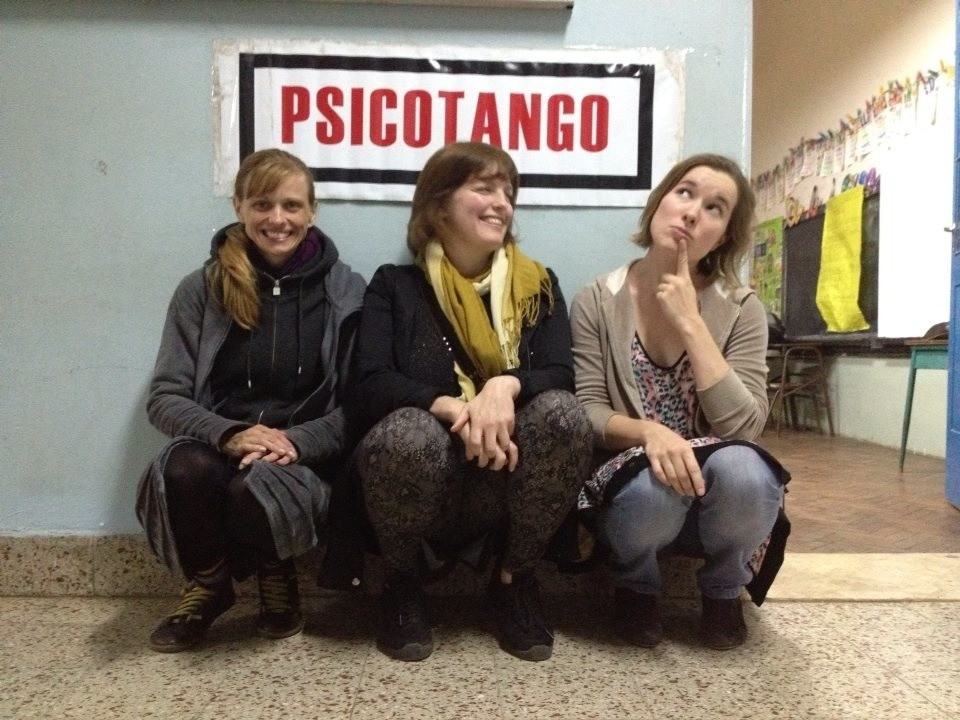 A few curious ladies try out psicotango. Tango Vacation Buenos Aires
