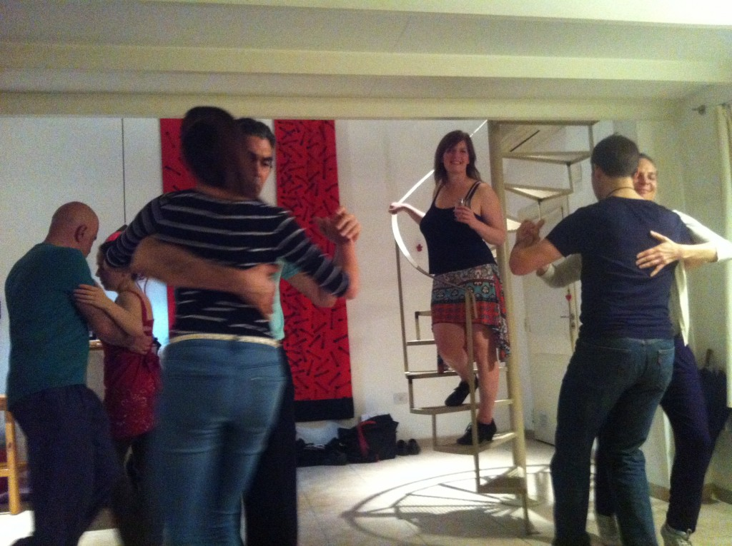 Here's a private milonga I organized in my home in Buenos Aires. So happy to facilitate those smiles of bliss.