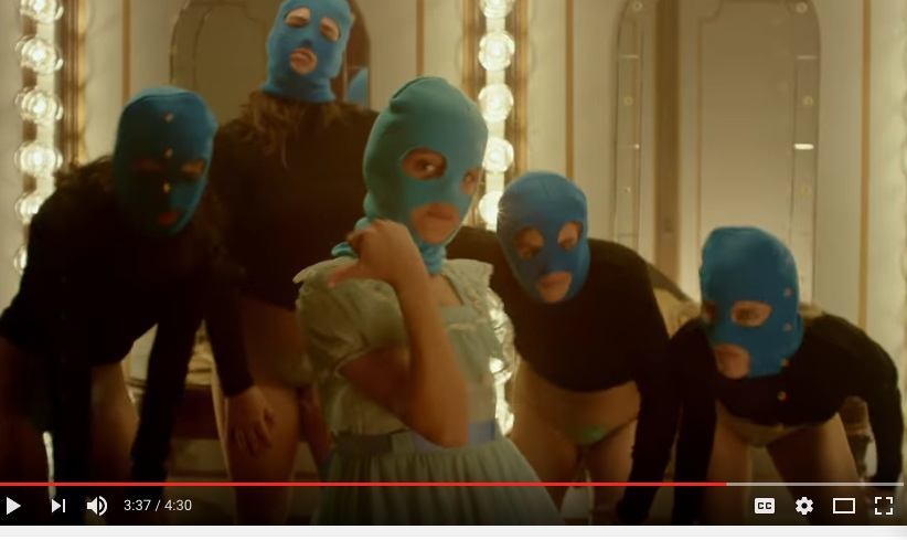 "From Pussy Riot's amazing new music video ""Straight Outta Vagina"""